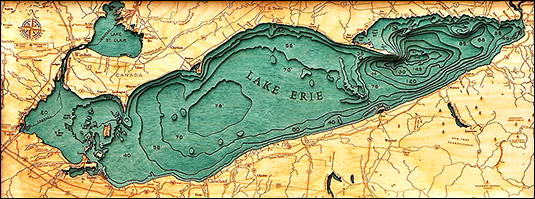 Depth Map of Lake Erie